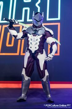 Genji Cosplay @ Gamestart (1) by DragonicHeaven