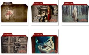 American Horror Story Folder Icons by nellanel