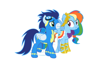 Rainbow Dash and Soarin After The Gala by 3D4D