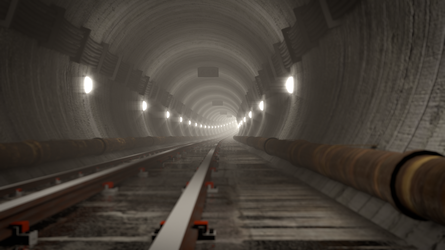 RailTunnel Fallout New Vegas style by f1r3w4rr10r
