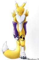 Renamon Walking Towards You by renadrawer