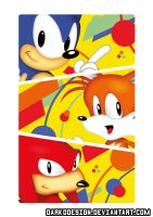Sonic Mania (The Three) Poster by DarkoDesign