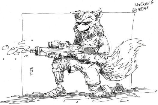 Fox with watergun by san-evd