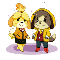 Isabelle and Digby by OliverThePanda