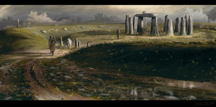 British Neolithic Monument - 3000BC by TheEnderling