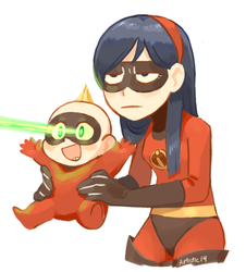 Violet and Jackjack by xXArtistic14Xx