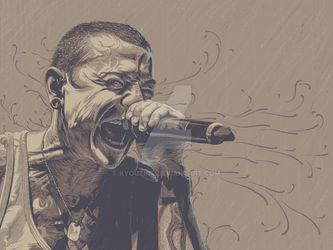 Chester Bennington by kyouzins