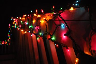 Christmas Lights at Night by burtonthebear