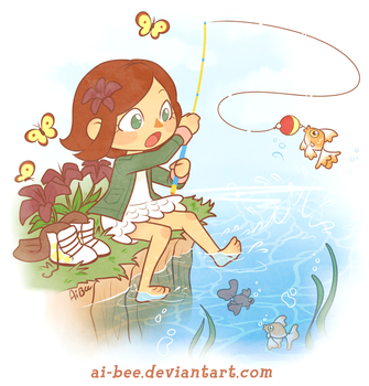 Comm - BrittyDee - ACNL Summer Fishing by Beedalee-Art
