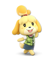 Super Smash Bros. Ultimate - Isabelle - Render by CynicSonic