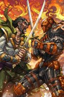 Deathstroke 20 Spalsh Page by arf