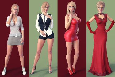 Visual Novel Character - Jessica O'Neil by stoper