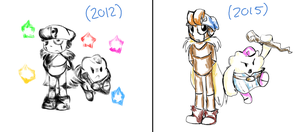 Old gallery redraw 3- Geno and Mallow sketch by Gameaddict1234