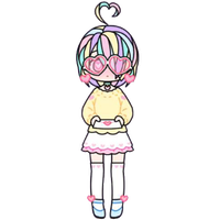 Pastel Girl with Heart Glasses by Rosemoji