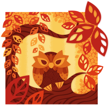 Autumn Owl by Sprits