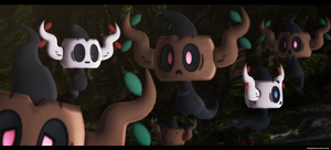 MMD Pokemon: Phantump DL by kaahgomedl