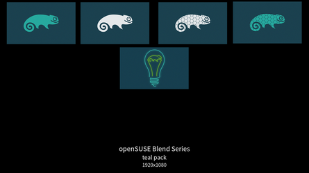 openSUSE Blend Series - teal pack by DarthWound