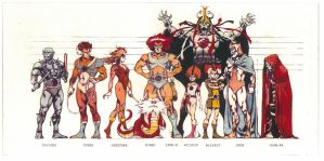 Police line up ThunderCats