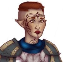 Inquisitor Kasimira Lavellan by emilythesmelly