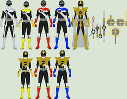 Colab: Jikan Sentai Chronoranger by Omega-King-DX