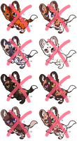 African Wild Dog Adoptables - CLOSED by PoonieFox