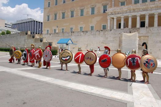 Hoplites in Syntagma Square by paladinvotary