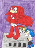 Knuckles as Captain Underpants by KatarinaTheCat