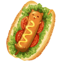 Kawaii Hot Dog by Rosemoji