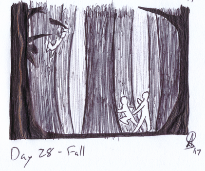 Inktober 2017 Day 28 - Fall by AnotherDemon