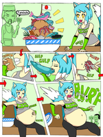 Wendy visits Japan:belly stuffing story by StrangerBoy410