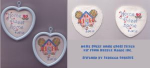 Home sweet Home Cross-stitch by catgir