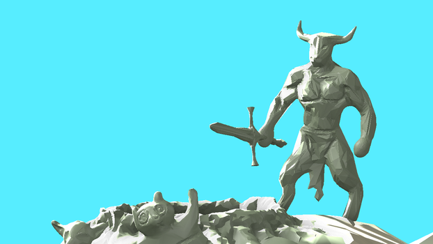 Day 19 - Minotaur (L) by wingsyo
