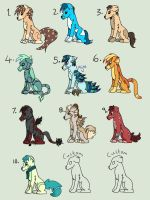 15 POINT CANINE ADOPTS .:OPEN:. by xXLexiAngeloXx