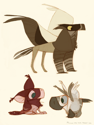 Gryphons by sketchinthoughts