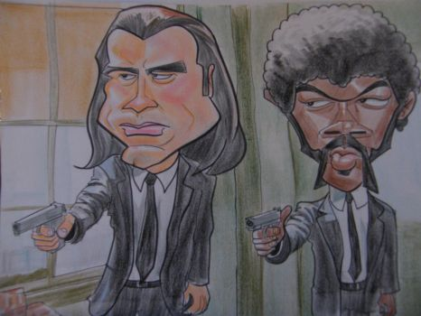Pulp Fiction Caricature by Fyra