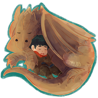A boy and his dragon by staypee
