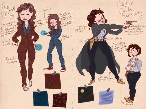 Costume Design: Doctor + Jack by mysteriousartist