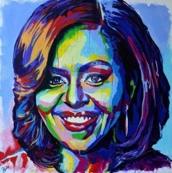 Michelle Obama Portrait by Olilolly11