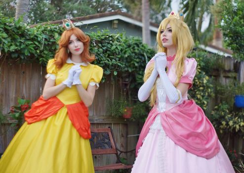 Princess Daisy and Peach III by MeganCoffey