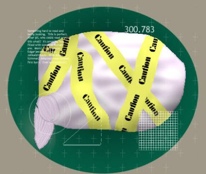 Caution Taped Brain by ezo