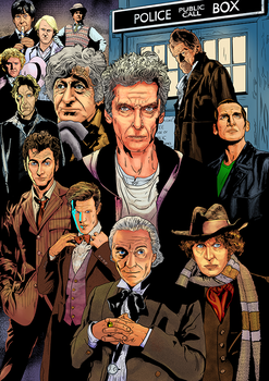 Doctor Who Color Commission by alphatrope