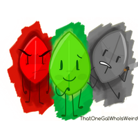 Three sides of Leafy by ThatOneGalWhoIsWeird