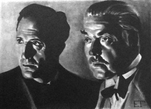 Sherlock Holmes and Dr. Watson Sketch Card by avintagedreamer