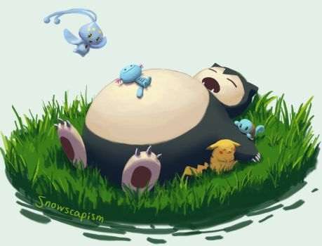 Snorlax and Friends by YYHyasha