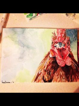 What You looking at? - watercolour by 12LucyJ34