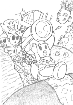 captain toad coloring pages - photo#8