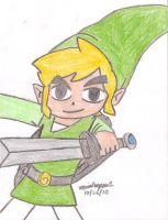 Toon Link Drawing by MarioSimpson1
