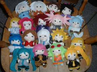 Tales of Symphonia and Volcaloid Mini Felt Dolls by FeltPencil