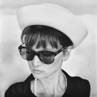 Audrey Hepburn and Hat by MVVR
