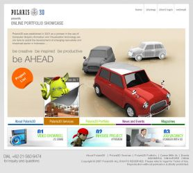 Polaris3D website by DesignersJunior